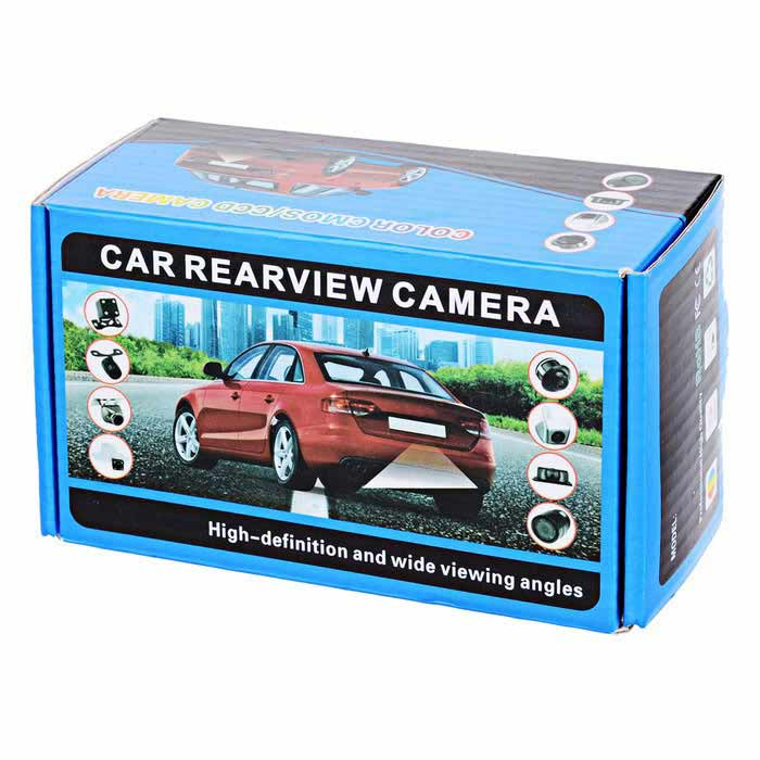Water Resistant 2.4GHz Wireless Car Rear View Camera w/ 4-IR Night Vision LED - Black (PAL)