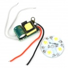 GY-DB-4W 90~120lm 6000~6500K 4-LED White Light Lamp Module + Board - White + Green + Red + Black