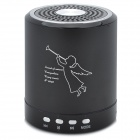 T-2020 Mini Portable Media Player 2-Channel Speaker w/ TF - Black + Silver