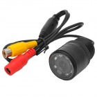 Water Resistant 2.4GHz WiredCar Rear View Camera w/ 7-IR Night Vision LED - Black (PAL)
