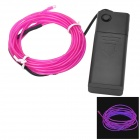 Waterproof Decorative EL Cold Light Flexible Cable w/ Drive - Deep Pink (320cm / 2 x AA)
