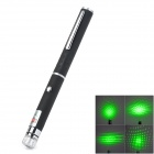 200308 5mW 532nm Green Laser Pointer w/ Replacement Heads - Black (2 x AAA)