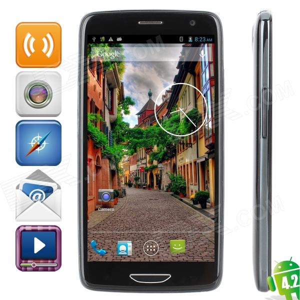 "iNew i3000 Quad-Core Android 4.2 Smartphone w/ 5.0"" IPS, Wi-Fi, GPS and Dual-SIM - Black"