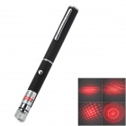 200323 5mW 650nm Red Laser Pointer w/ Replacement Heads - Black (2 x AAA)