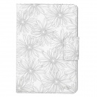 LOFTER W-01 Printing Pattern Protective PU Leather Case for iPad Mini - White