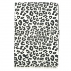 Leopard Style Protective PU Leather Case for Ipad MINI - White + Black