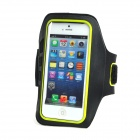 IA-5 Protective Plastic + Flannel Outdoor Sport Armband for Iphone 5 / 4G + More - Black + Yellow