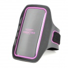IA-5 Protective Plastic + Flannel Outdoor Sport Armband for Iphone 5 / 4G / 4S + More - Black + Pink