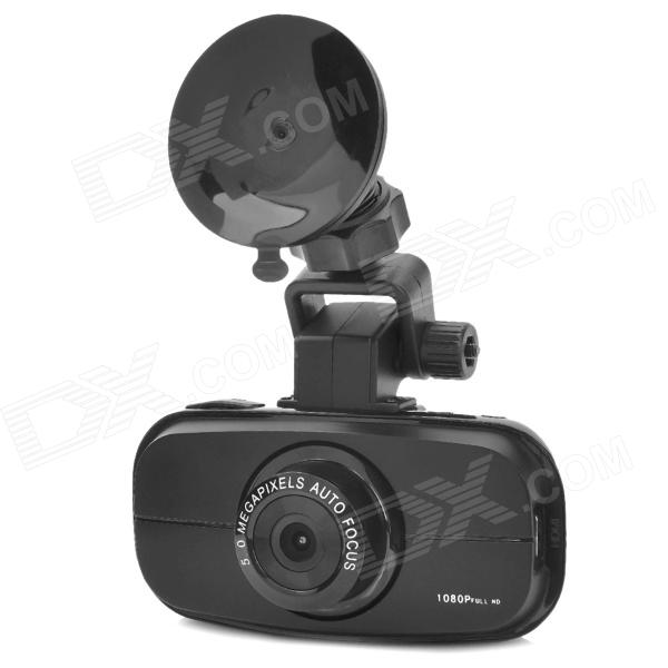 "2.7"" TFT Full HD 1080P Hyper Night Vision Wide Angle Car DVR w/ Mini HDMI - Black"