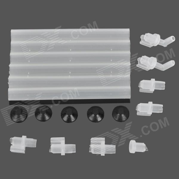E5YK PAC60 Plastic + Rubber Air Tube Kit for Fish Tank / Aquarium - Translucent White + Black