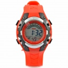Sports Water-resistant Resin Band Digital Wrist Watch - Red