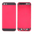 Replacement Aluminum Alloy Back Cover Case for iPhone 5 - Red + Black
