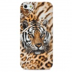 Tiger Pattern Protective Plastic Hard Back Case for Iphone 5 - Brown