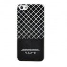 Grid Pattern Protective Plastic Flashing Back Case for Iphone 5 - Black + White