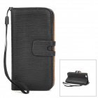 Lizard Pattern Protective PU Leder Flip-open-Fall für Iphone 5 - Schwarz