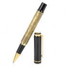 Horses Pattern Aluminum Alloy Black Gel Ink Pen Sign Pen - Black + Bronze