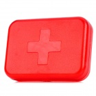 R-6 Cross Style 6-Day 6-Compartment Medicine Pill Storage Box Holder Container - Red