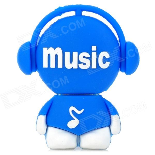 Cute Music Man Style USB 2.0 Flash Drive - Blue+ White (8GB)