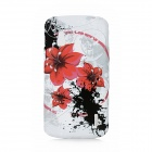 Red Flower Pattern Protective TPU Case for LG E960 Nexus4 - Red + Black + Red