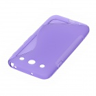"""S"" Style Protective TPU Back Case for LG Optimus G Pro / F240L / F240K / F240S - Purple"