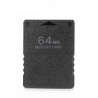 Memory Card for PS2 / PS2 Slim - Black (64MB)