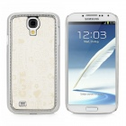 Cute Cartoon Style Protective PC + PU Leather Back Case for Samsung Galaxy S4 i9500 - Beige + Silver