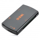 SSK SCRM/059-USB 3.0 High Speed USB 3.0 CF / Micro SD / MS / SD Card Reader - Black (64GB)