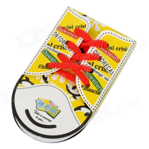 ZX-0416 Cute Shoe Style Sticky Memo Pad Note Paper - Yellow + Red + Black (48 pieces) never rose gold sticky notes and memo pads set cute post note paper notepads set fashion office accessories stationery store