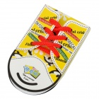 ZX-0416 Cute Shoe Style Sticky Memo Pad Note Paper - Yellow + Red + Black (48 pieces)