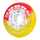 Outdoor Sports 76mm-Diameter Rollerskate Wheel - White + Yellow + Red + Grey