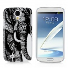 Elephant Style Protective Plastic Back Case for Samsung Galaxy S4 i9500 - Black + White