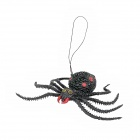 Lifelike Silicone Spider Toy - Red + Black