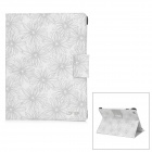 LOFTER W-01 Printing Pattern Protective PU Leather Case for Ipad 2 / 4 / The New Ipad - White