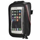 "ROSWHEEL 12496L-C5 Top Tube Belt Bag w/ 3.5mm Cable for 5.5"" Touch Screen Phone - Black + Red"