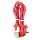 USB 2.0 to 30-Pin Data/Charging Cable w/ RGB LED Flashing for iPhone 4 / 4S / iPad - Red