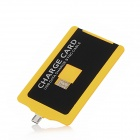 Portable USB Male to Micro USB Male Charging & Sync Cable Card - Yellow + Black