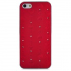 Romantic Heart Style Protective Plastic Hard Back Case for Iphone 5 - Red