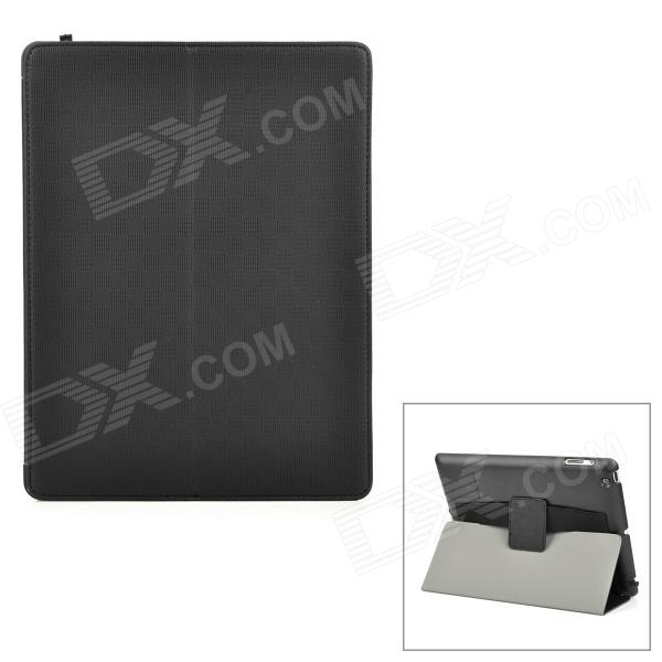 Protective PU Leather Case for Ipad 2 / Ipad 4 / The New Ipad - Black
