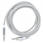 3.5mm Male to Male Car AUX Audio Cable - Grey + Silver (154CM)