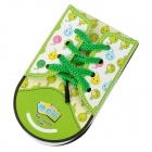 ZX-0416 Cute Shoe Style Sticky Memo Pad Note Paper - White + Green + Black (48 pieces)