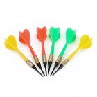 Sharp Copper-Plated Iron Plastic Darts for Dart Game - Green + Yellow + Red