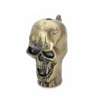 Skull Style Blue Flame Butane Gas Windproof Lighter - Bronze