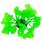SH 131M Rubber + Silicone Lotus Style Soft Coral Decoration for Fish Tank / Aquarium - Green