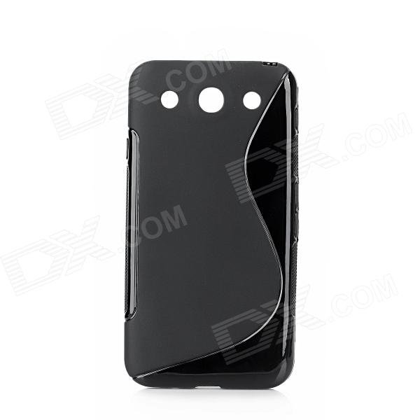"""S"" Style Protective TPU Back Case for LG Optimus G Pro / F240L / F240K / F240S - Black"