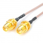 RP SMA (Male Pin) to U.FL (IPX) F-F Adapter - Golden + Black (2PCS)