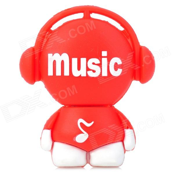 Cute Music Man Style USB 2.0 Flash Drive - Red + White (8GB)
