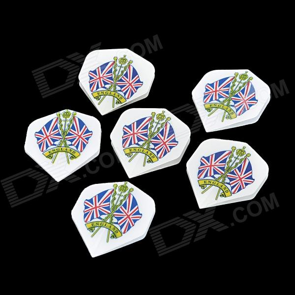 UK National Flag Pattern Plastic Dart Tail Wing (6 PCS) feng ling sb5512 ultrathin young model double eyelid tapes white yellow 240 pieces pack