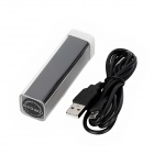 "Portable ""3000mAh"" Power Bank External Battery Charger for Samsung i9500 / i9300 / N7100 - Black"