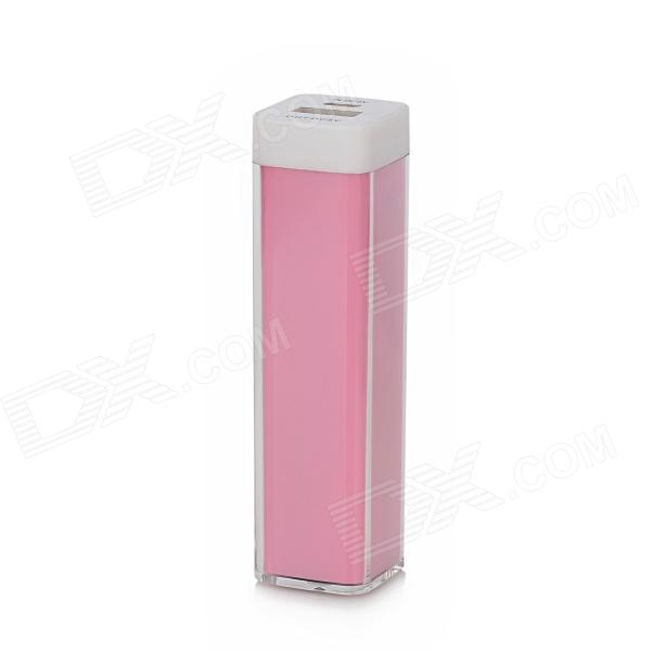 Portable 3000mAh Power Bank External Battery Charger for Samsung i9500 / i9300 / N7100 - Pink free shipping new design lipstick 3000mah mini luxury portable battery external bank power bateria charger for iphone samsung