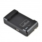 YIBOYUAN SS-1 AC Charging Dock Cradle w/ USB Port for Samsung S4 i9500 - Black